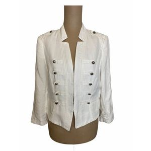 White House Black Market White 1/4 Sleeve Jacket